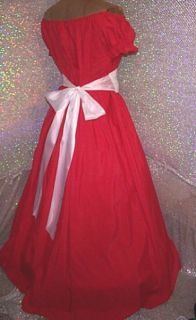 Ruby Red Chemise w Medici Belt Civil War Southern Belle Costume Gown