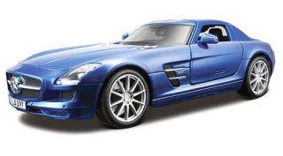 Mercedes Benz SLS AMG Maisto Special Edition Diecast 1 18 Scale Blue