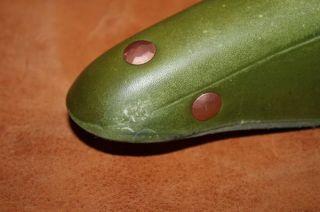 Cardiff Saddle Mercia Moss Green Leather w Copper Rivits Rails Brooks