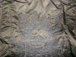 Harley Davidson Medium Mens Fade Out Black Nylon Jacket M or XXXL NIB