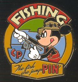 Camp Pin E Ha Ha Merit Badge Fishing Mickey Disney Pin