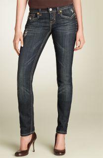 MEK Oaxaca Cigarette Skinny Leg Stretch Jeans Dark Blue Sz 26 x 32