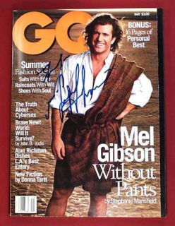 Mel Gibson Braveheart All Star Actor Autographed Magazine