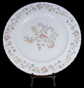 Mikasa Bone China Melinda Dinner Plates Yellow Pink Floral L9803 Gold
