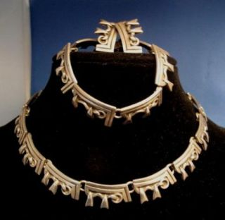 Vintage Emma Melendez Taxco Sterling Silver Necklace Bracelet Earrings