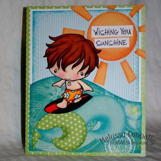 Surfer Ian The Greeting Farm Mounted Rubber Stamp Cling