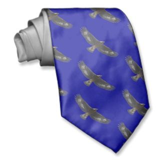 Glorius Golden Eagle Soaring Neck Ties