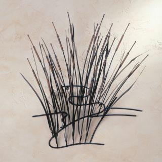 Cattail Wall Art 3D Metal Sculpture Decor New GA0143
