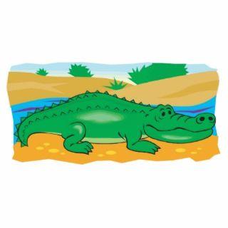 cute little crocodile photo cutout