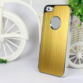 Gold Luxury Brushed Metal Aluminum Hard Case for iPhone 5 5g Stylus