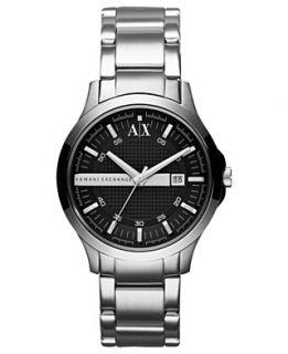 Armani Exchange Watch, Mens Stainless Steel Bracelet 40mm AX2124