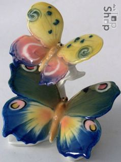 BUTTERFLY BUTTERFLIES  Old KARL ENS Porcelain Figure Figurine Germany