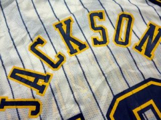 Jackson #13 Indiana Pacers LINE NBA Basketball Jersey 40 Authentic