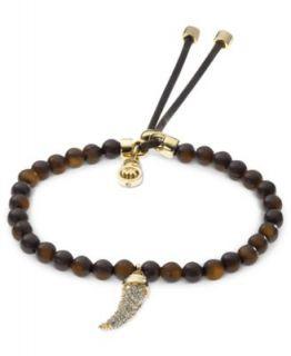 Michael Kors Bracelet, Rose Gold Tone Glass Concave Pendant Bracelet