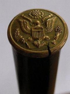 Army Military Parade Baton Brass Eagle Button 1930s