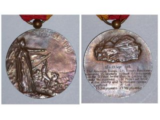 France French WW1 Saint St Mihiel Battle Medal War Military 1914 1918