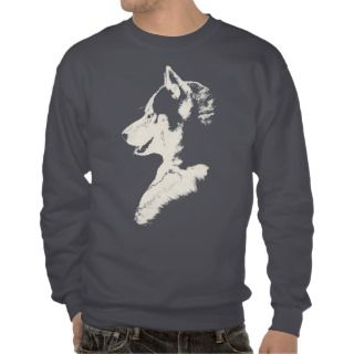 Husky T Shirt Sweatshirt Husky Wolf Art Dog Shirts