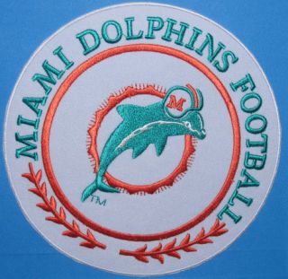Miami Dolphins Team Jersey Logo 5 Patch NFL Football