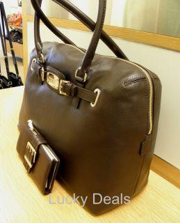 Michael Kors Hamilton New Weekender Satchel Handbag Brn