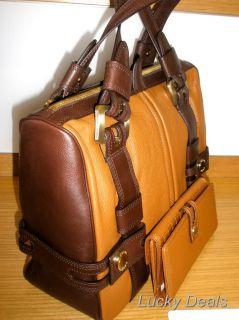 Michael Kors Harness Satchel Handbag Bag Purse Luggage
