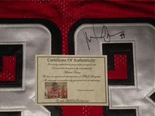 Michael Turner Autographed Football Falcons w Proof