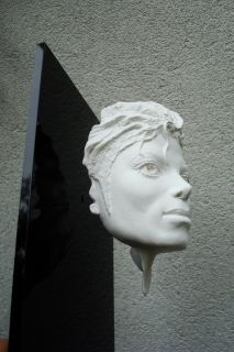Unique Resin White Michael Jackson Face Statue