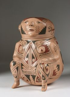Ortiz Effigy Vessel by Andres Villalba (1947 2001) / Mexican Pottery