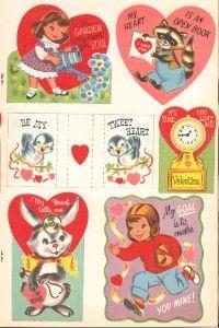 Vintage Valentines Paper Dolls Lazer Repro ORG Size