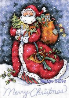 Counted Cross Stitch Kit 5 x 7 Merry Christmas Santa 08825