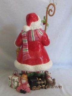 Fitz Floyd Mingle Jingle Be Merry Santa Figurine