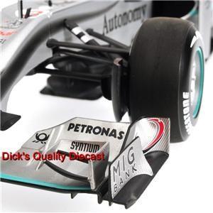 MICHAEL SCHUMACHER LIMITED EDITION #3 2010 MERCEDES GP RACE CAR 1/18