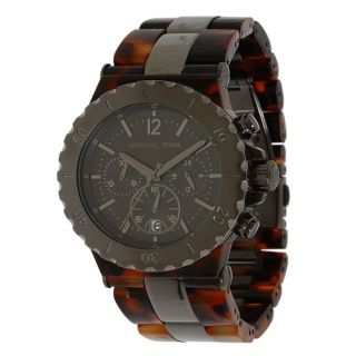 Michael Kors MK5501 Womens Tortoise Textured Plastic Grey Dial