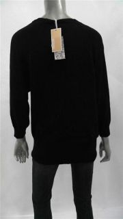 Michael Michael Kors Giftables Misses Womens V Neck Sweater Sz L Black