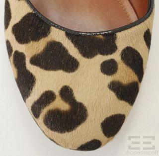 Jean Michel Cazabat Leopard Print Pony Hair Flats Size 40 5