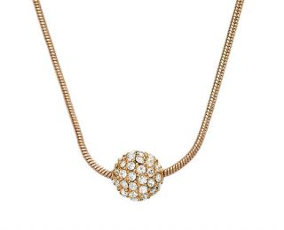 Michael Kors Sparkle Crystal Gold Necklace Free US Canada Shipping