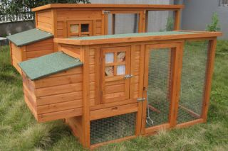Chicken Coop Rabbit Hutch Ferret Cage Hen Chook House 9 Guinea Pig Run