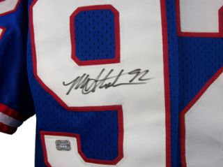 Michael Strahan Autographed Blue New York Giants Jersey RARE AAA COA