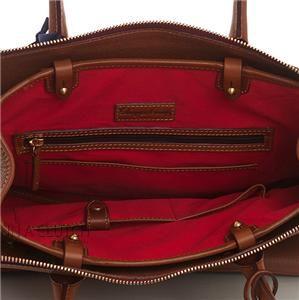Auth Dooney Bourke Leather Saddle Large Wilson Handbag
