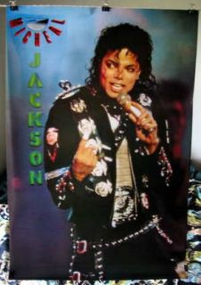 Michael Jackson very HTF OOP poster Micheal live rare