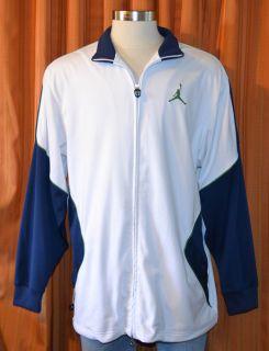 Michael Air Jordan Nike White Blue Green Basketball Warmup Track