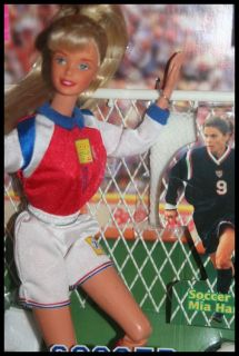 Vintage Barbie Doll MIA Hamm Soccer New 1998