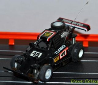 Tyco AFX Tomy Turbo Hopper No 49 in Black HO slot car micro scalextric