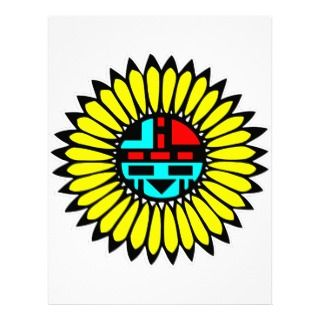 Native American Indian Art #010 Letterhead Template