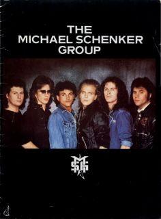 Michael Schenker Group 1983 Built to Destroy Tour Concert Program Book