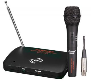 Pyle PDWM100 New Wireless Wired Microphone System w Detachable Antenna