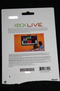 Microsoft Xbox 360 Live 4000 Points Factory SEALED Game Card