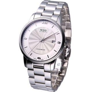 Mido Baroncelli Automatic Cosc Swiss Dress Watch White M0104081103700