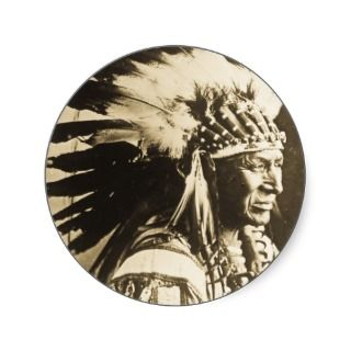 Lakota Sioux Chief White Swan Stickers