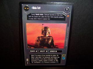 Star Wars Boba Fett Cloud City SW CCG Decipher Card