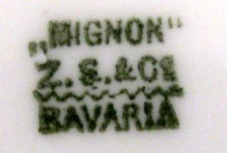 Mignon Z s C Bavaria Germany Plate Early 1900s